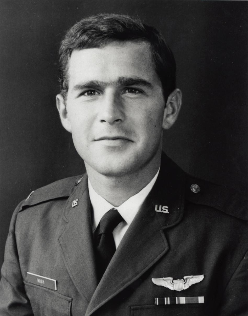 ג'ורג' בוש בצעירותו (צילום: Getty images)