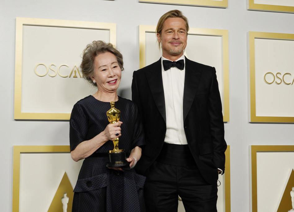 בראד פיט, יו-ג'ונג יון (צילום: Getty Images / Handout)
