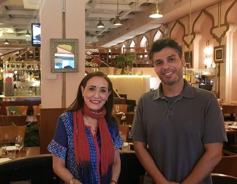 מוחמד אל-חאג'ה ורינה פושקרנה (צילום: באדיבות שגרירות איחוד האמירויות בישראל)