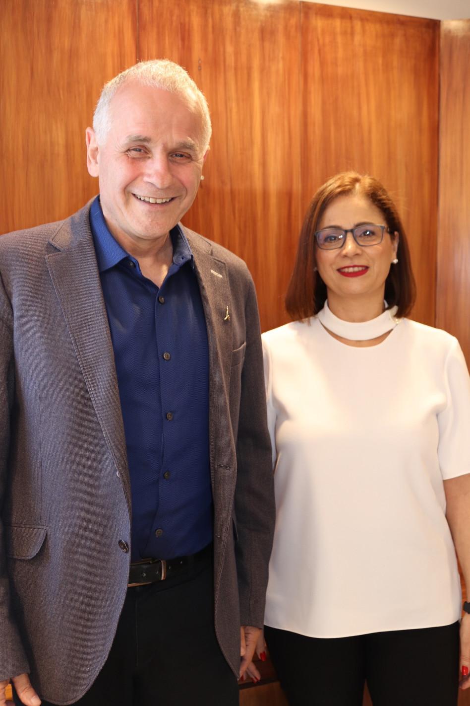 מונא חורי-כסאברי ואשר כהן (צילום: האוניברסיטה העברית)