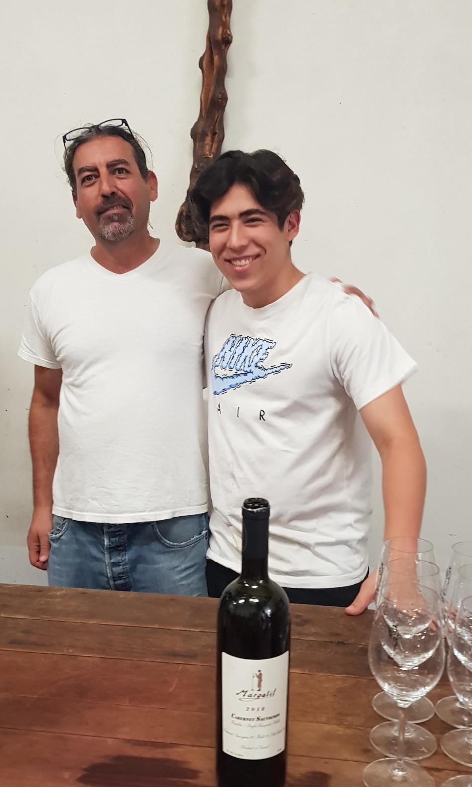 אסף ובנו יונתן מרגלית (צילום: באדיבות יקב מרגלית)