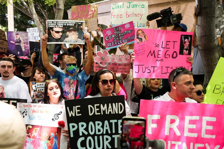 תנועת free britney (צילום:  Rich Fury  Getty Images)