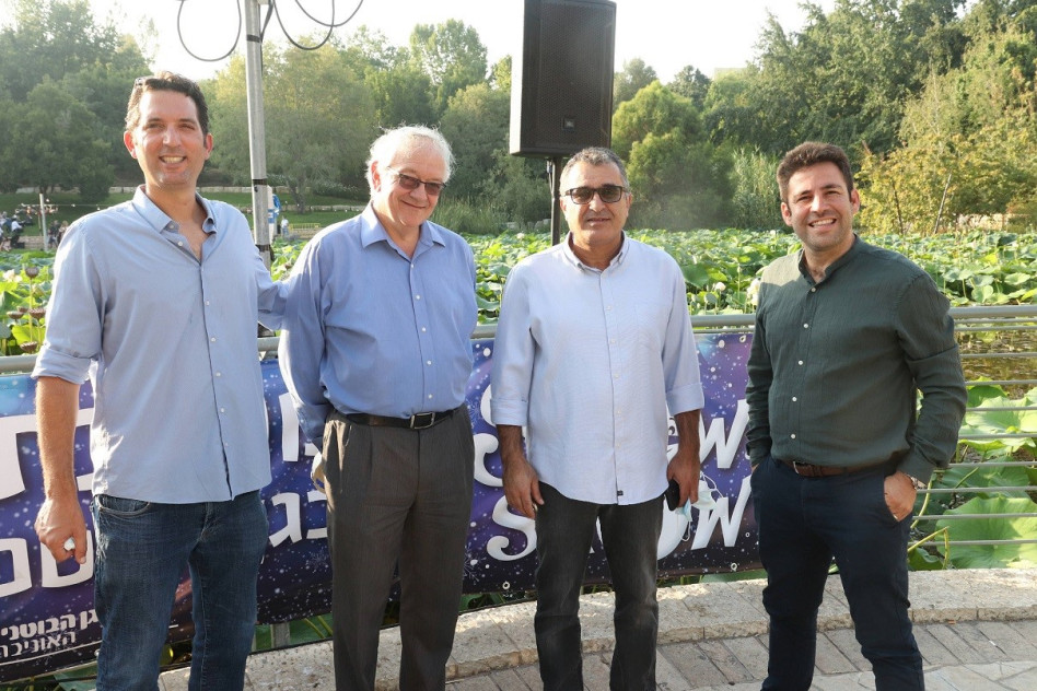 עופר ברקוביץ', אורי מנחם, אלן ברקלי ותום עמית (צילום: אור גפן)