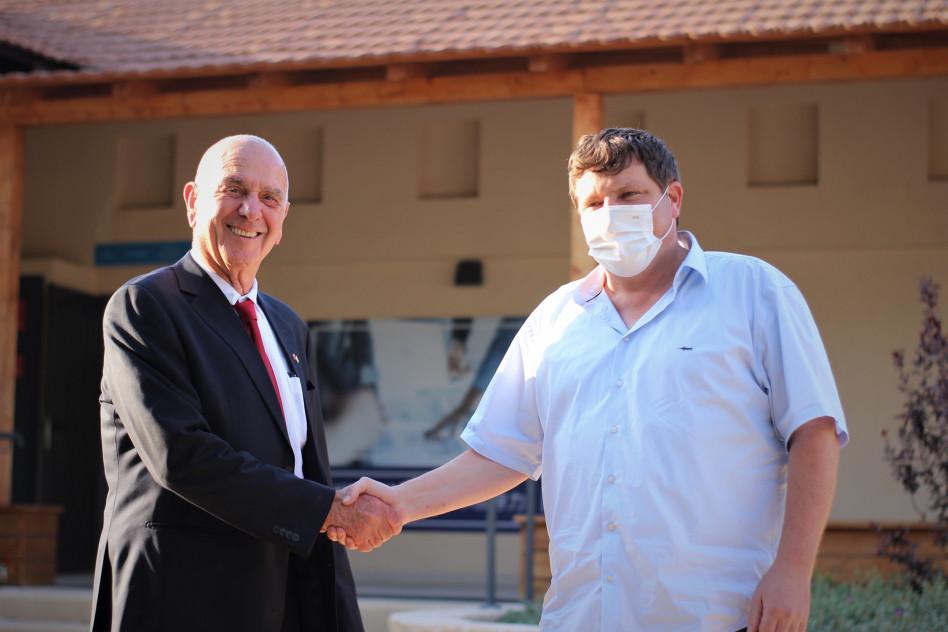 רמי גרינברג ומתן וילנאי (צילום: רועי פרץ)