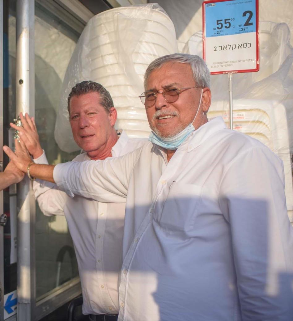 נחום ביתן ומיכאל לובושיץ (צילום: תמר דואק)