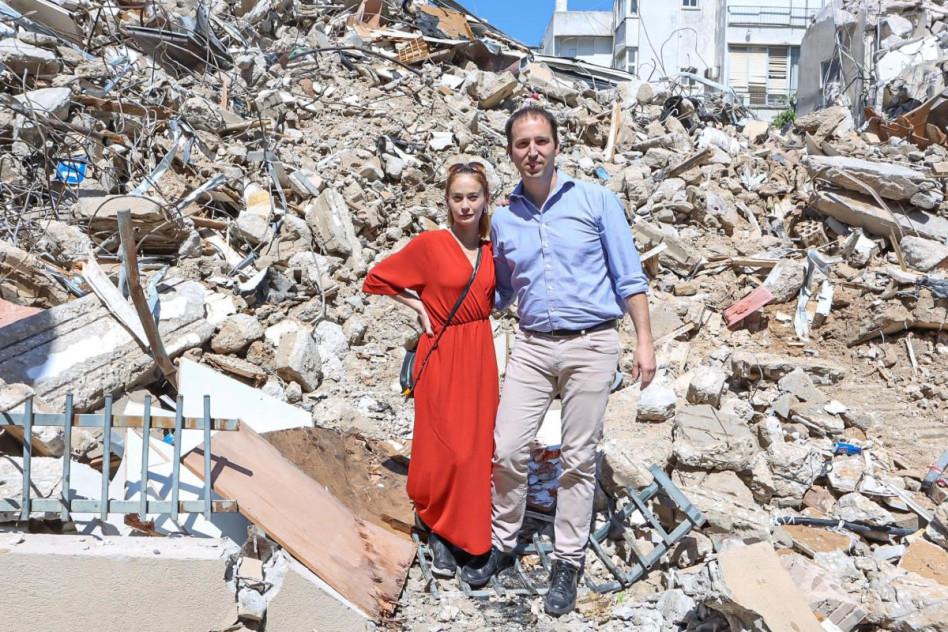 אמיר לוטן ולוסי דובינצ'יק (צילום: אוראל עזרא)