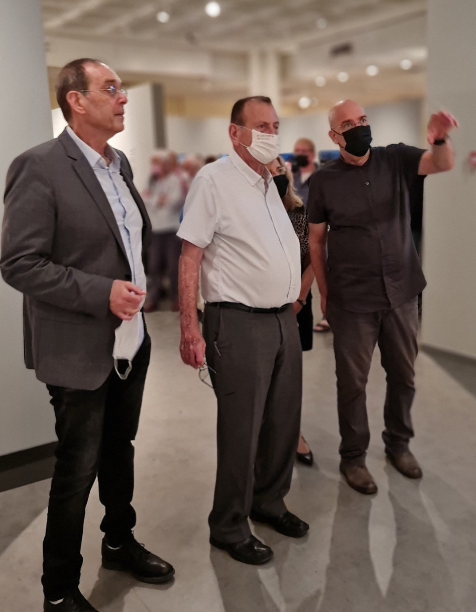 גיא רז, רון חולדאי ועמי כץ (צילום: טל איז'ק)