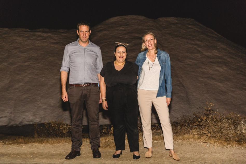 אילנה גורן, נוף עתאמנה אסמאעיל וגיא פרופר (צילום: רויטל טופיול)