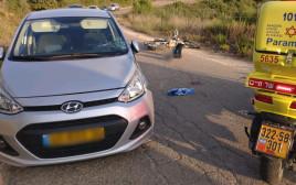 זירת התאונה בחיפה
