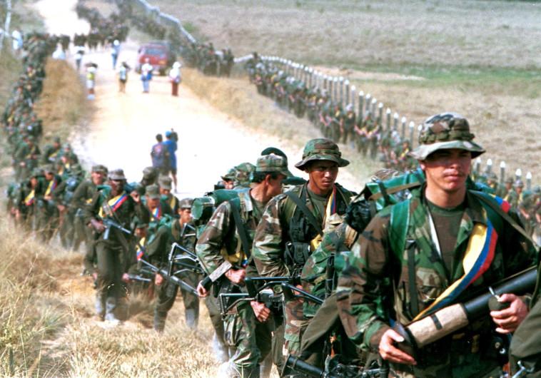 לוחמי ארגון המורדים הקולומביאני פארק. צילום: רויטרס