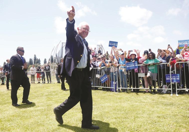 ברני סנדרס במהלך קמפיין הבחירות, מאי 2016. צילום: רויטרס