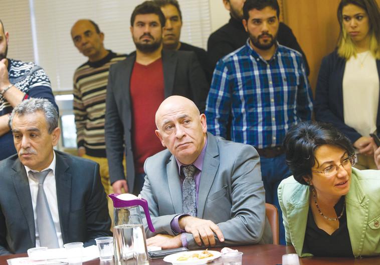 חנין זועבי, ג'מאל זחאלקה ובאסל גטאס בדיון בכנסת