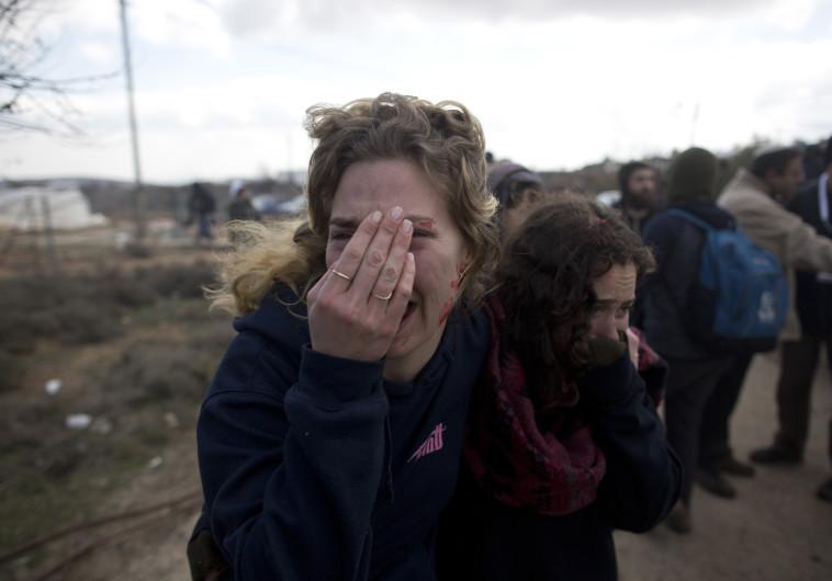 האבל נהיה כמעט ממלכתי. פינוי עמונה, צילום: ליאור מזרחי, Getty Images