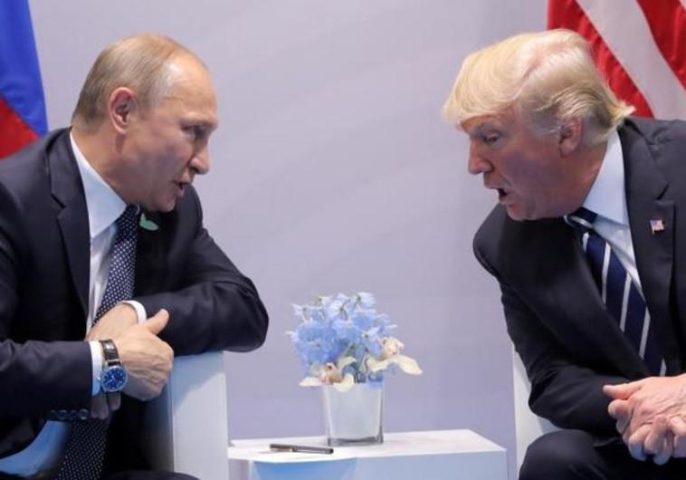 """""""כבוד גדול להיפגש"""". דונלד טראמפ וולדימיר פוטין ב-G-20. צילום: רויטרס"""