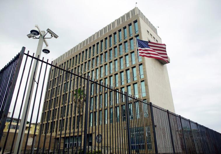 שגרירות ארצות הברית בקובה. צילום: רויטרס
