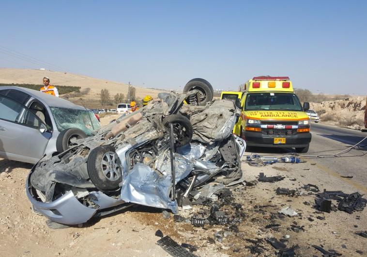 תאונת דרכים סמוך לדימונה