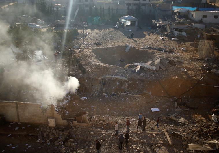 """יעד שהופצץ על ידי צה""""ל ברצועת עזה"""