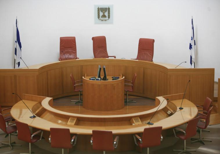 הפך לבימת תיאטרון. אולם בית המשפט העליון, צילום: נתי שוחט, פלאש 90