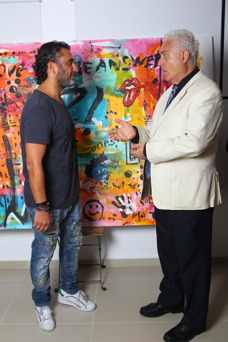 יצחק אלדן ומיכאל אדרי (צילום: OVLAC)