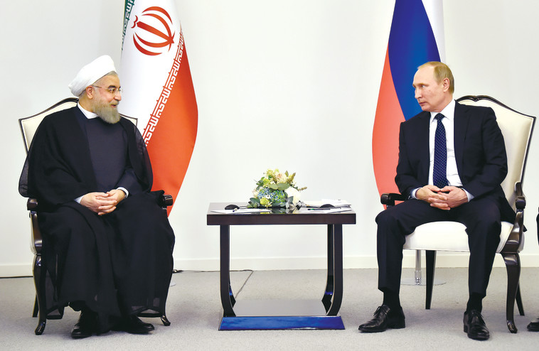 פגישה בין פוטין למנהיג איראן חמינאי. צילום: רויטרס