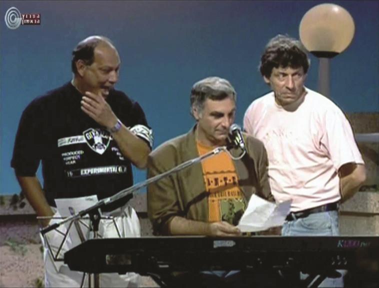 יאיר רוזנבלום ואבי קורן (צילום: צילום מסך)