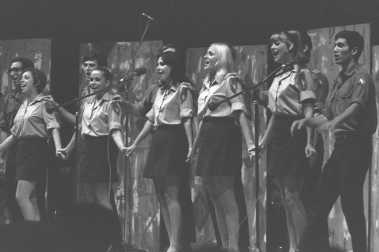 """להקת הנח''ל בתקופת יאיר רוזנבלום. צילום: דוד אלדן, לע""""ם"""