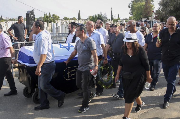 הלווייתו של בנימין פואד בן אליעזר. צילום: מרים אלסטר, פלאש 90