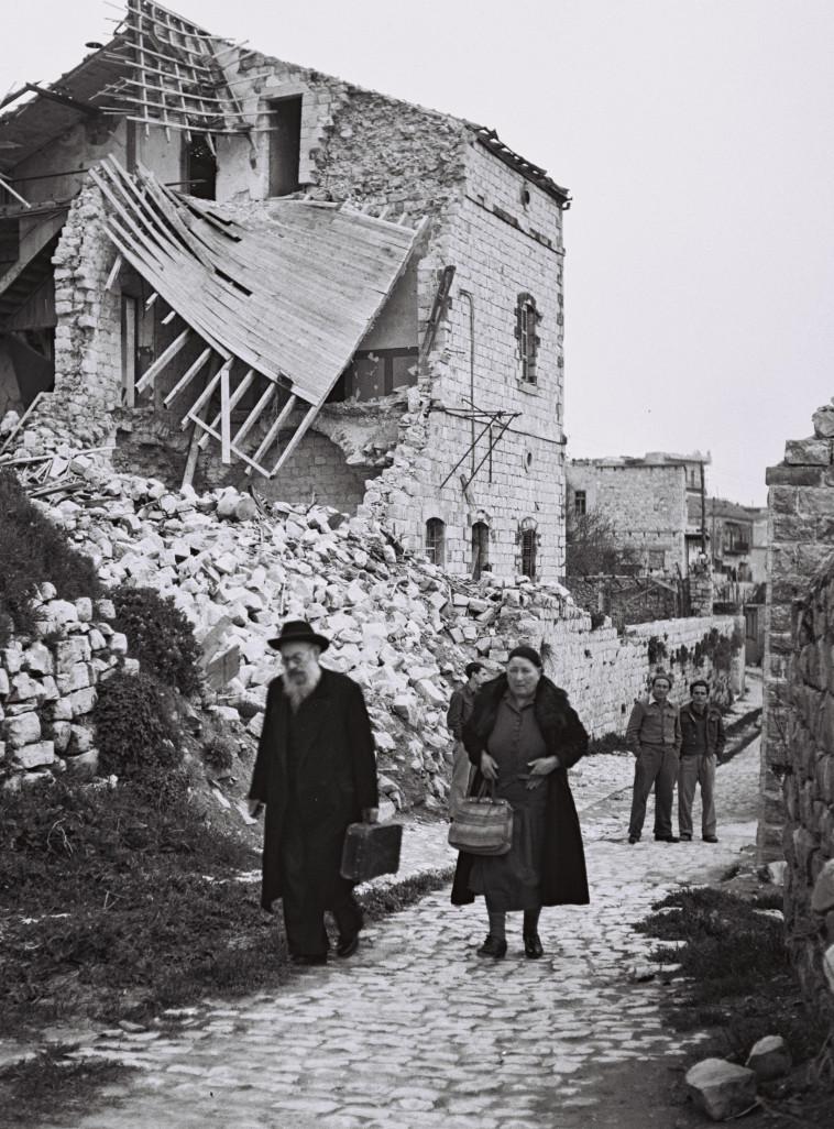 העיר צפת לאחר מלחמת העצמאות, מאי 1949. צילום: זולטן קלוגר לע''מ.