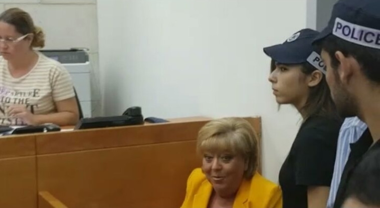 פיירברג בבית המשפט. צילום: פוסטה