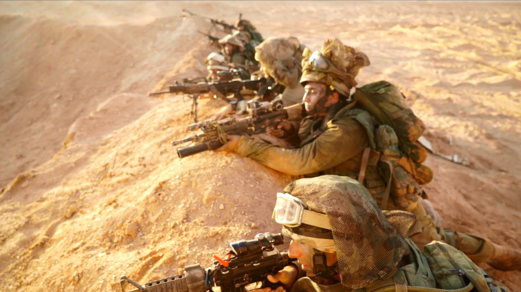 לוחמים ולוחמות באימון הגדודי. צילום מסך