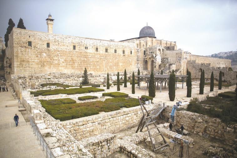 הגן הארכיאולוגי בירושלים. מוקד למלחמת חורמה של ארגוני שמאל. צילום: יונתן זינדל, פלאש 90
