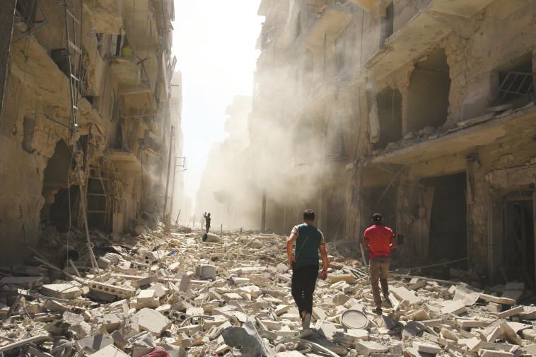 """""""אסון הומניטארי גדול ומתמשך"""". העיר חלב. צילום: רויטרס"""