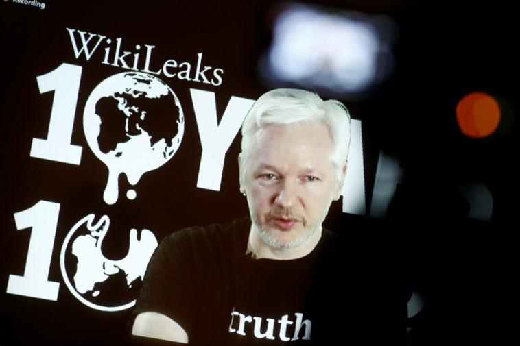 מייסד ארגון ויקיליקס, ג'וליאן אסאנג'. צילום: רויטרס