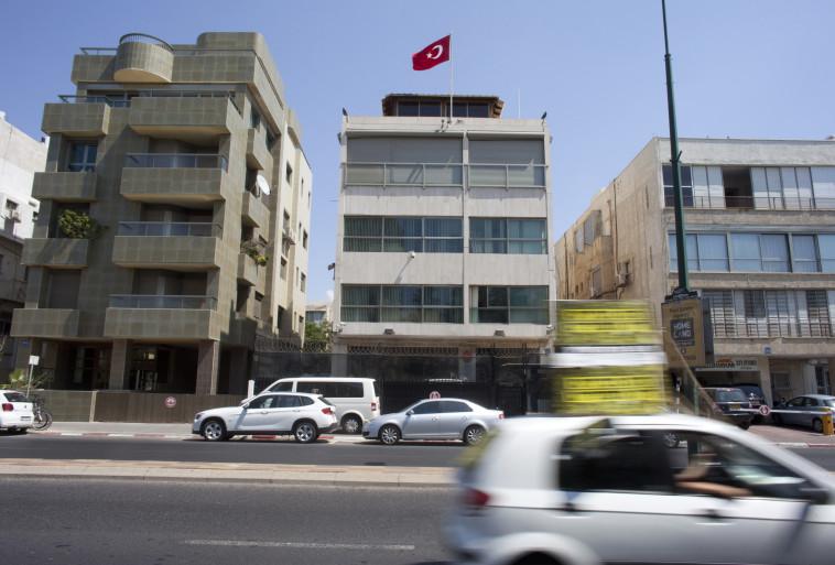שגרירות טורקיה בישראל ברחוב הירקון בתל אביב. צילום: רויטרס