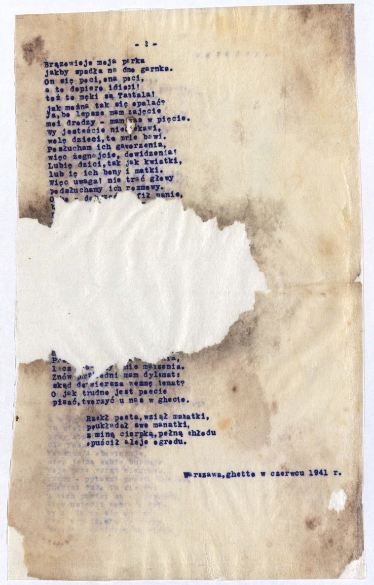 שירו של ולדיסלב שלנגל. ארכיון ורשה
