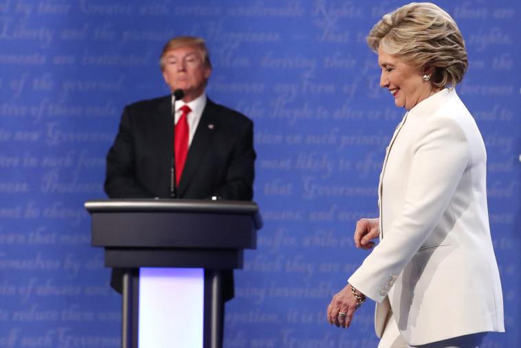 טראמפ וקלינטון במהלך קמפיין הבחירות. צילום: רויטרס