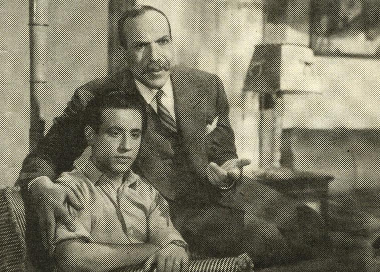 פלפל אל מצרי הצעיר (אלברט מוגרבי) בסרט מצרי ב-1951