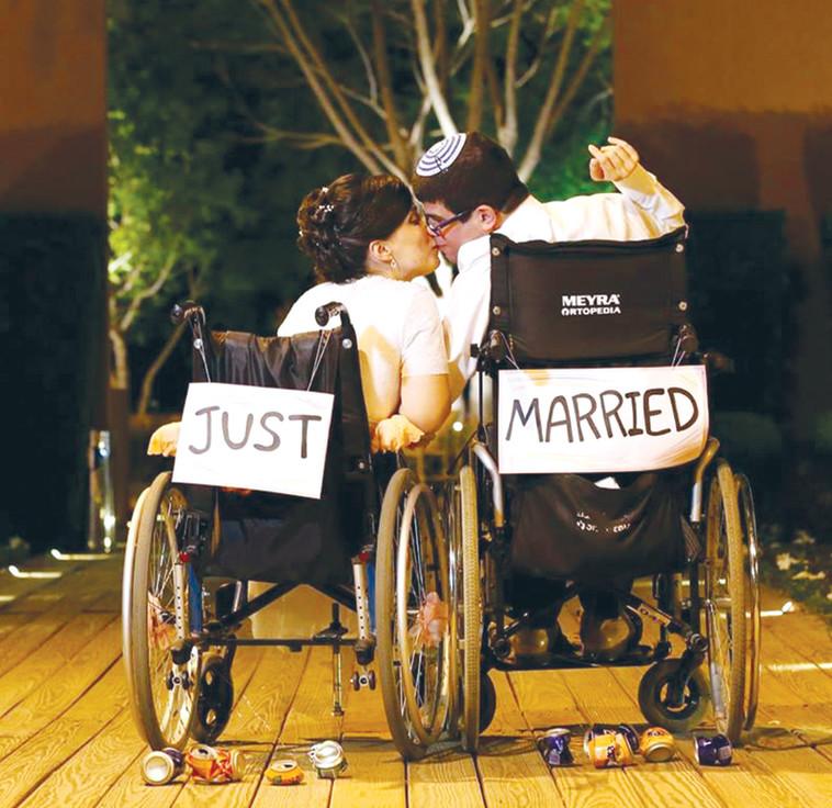 יהונתן כהן בחתונתו. צילום: אריאל זנדברג
