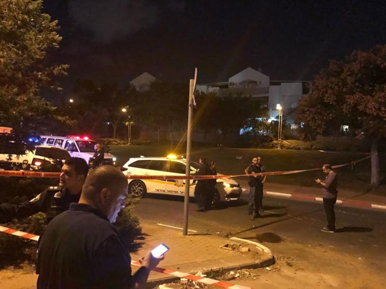 זירת הרצח בראשון לציון. צילום: דוברות המשטרה