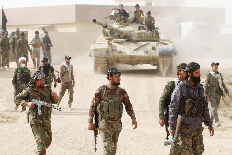 מיליציות שיעיות במוסול. צילום: AFP