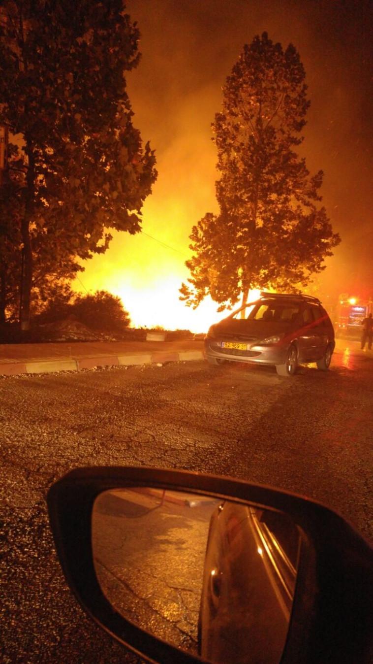 השריפה בדולב. צילום: איגוד ערים לאיכות סביבה שומרון