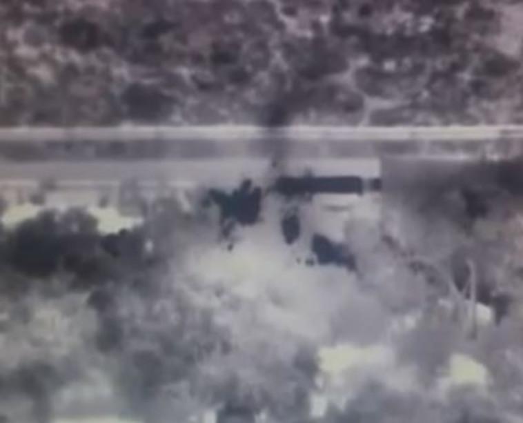 ניסיון הצתה סמוך לאריאל. צילום מסך