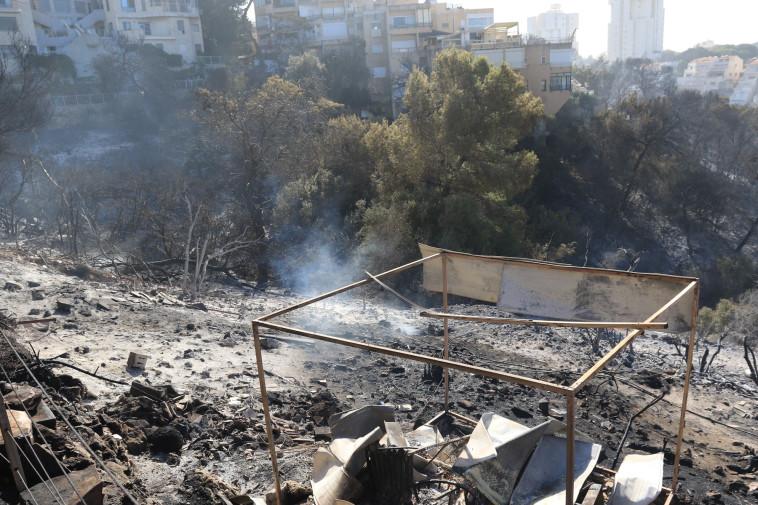 נזקי השריפה בחיפה. צילום: ערן לוף