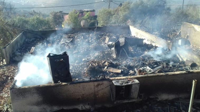 """השריפה בחלמיש. צילום: דוברות כבאות והצלה מחוז ש""""י"""