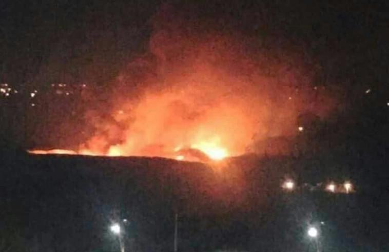 הדיווח על תקיפה ישראלית בסוריה. צילום מסך