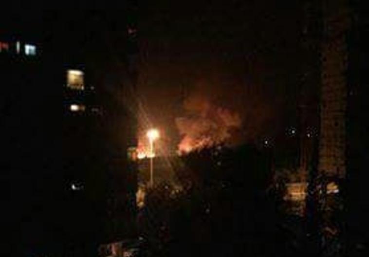 דיווח על תקיפה ישראלית בדמשק, סוריה. צילום מסך