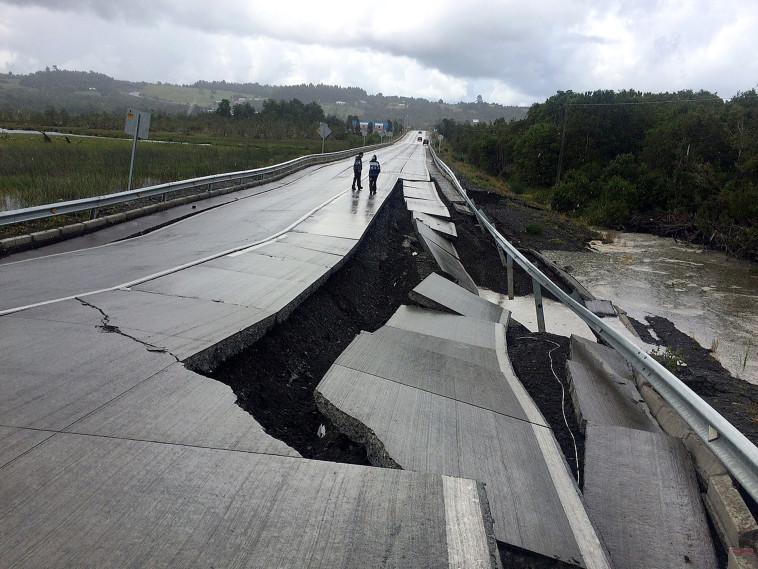 רעידת אדמה בצ'ילה. צילום: רויטרס
