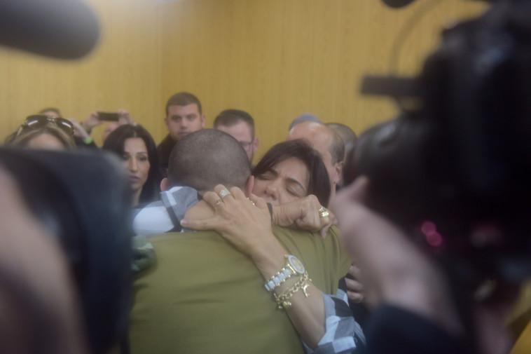 אלאור אזריה בבית הדין בקריה. צילום: אבשלום ששוני