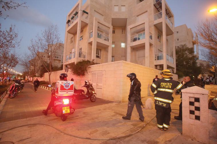 זירת הרצח וההתאבדות בירושלים. צילום: מרק ישראל סלם