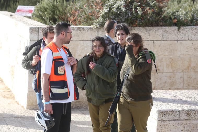 זירת הפיגוע בארמון הנציב. צילום: מרק ישראל סלם